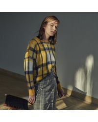 Warehouse Cosy Check Jumper - Yellow