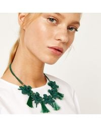Warehouse - Flower And Tassel Necklace - Lyst