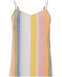 Warehouse Rainbow Pyjama Cami Top - Multicolour