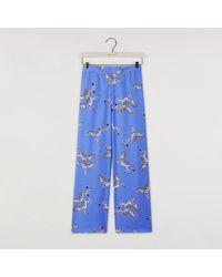 Warehouse Zebra Pyjama Bottoms - Blue