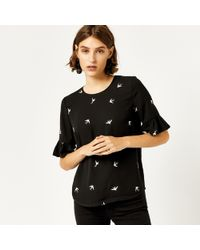 Warehouse - Swallow Embroidered Top - Lyst
