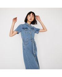 2db5acee94 Polo Ralph Lauren Denim Western Cotton Shirtdress in Blue - Lyst