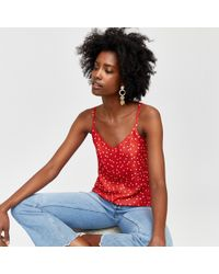 Warehouse - Spot Print Woven Front Cami - Lyst
