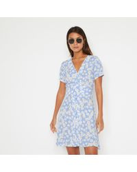 Warehouse - Daisy Mini Tea Dress - Lyst