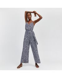 Warehouse - Spiral O-ring Wrap Jumpsuit - Lyst