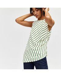 Warehouse - Stripe Asymmetric Top - Lyst