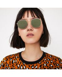 Warehouse - Wire Hexagon Frame Sunglasses - Lyst