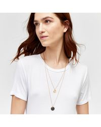 Warehouse - Multi-row Disc Necklace - Lyst