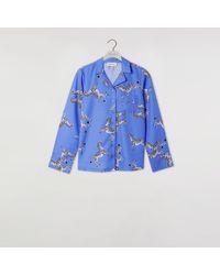 Warehouse Zebra Pyjama Top - Blue