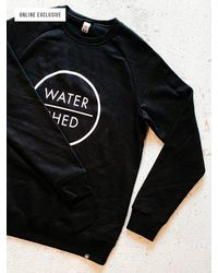 Watershed Brand Classic Logo Loopback Crew - Black