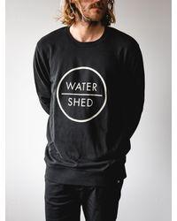 Watershed Brand Classic Logo Crew Black