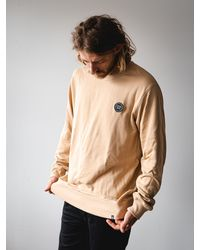Watershed Brand Woven Patch Logo Crew - Natural