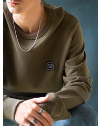 Watershed Brand Woven Patch Logo Crew - Green