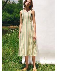 LETQSTUDIO - Striped Sundress - Lyst
