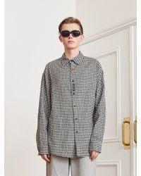 13Month Gingham Check Long Sleeve Shirt Black