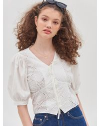VEMVER Rucy Lace Blouse - White