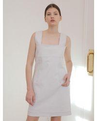 Noir Jewelry Stitch Dress - White