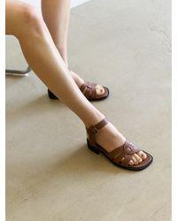 MIYERH Tery Strap Sandal / - Brown