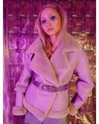 KIMMY J Lilac Shearling Jacket - Purple