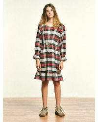 MONOPISPA - Ariel Dress Flannel Royal Stewart - Lyst