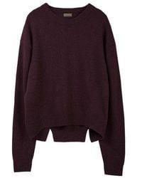 MADGOAT - Back Slit Cashmere Cropped Knit_burgundy - Lyst