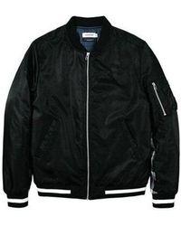 LAYER UNION Contrast Ma-1 Jacket - Black