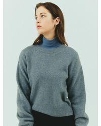 Bensimon Merino Wool Crop Knit - Blue