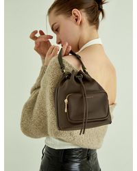 Lapalette Essential Nylon Bucket Bag - Brown