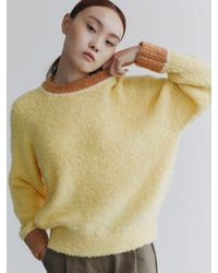 38comeoncommon Boucle Round Knit () - Yellow