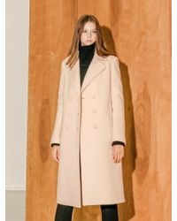 COLLABOTORY - B7cma3009m Pastel Color Double Coat Light Pink - Lyst