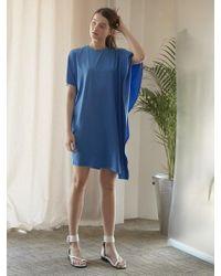 NILBY P - Draping Dress Bl - Lyst
