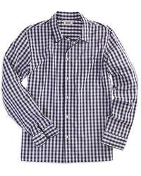 Sleepy Jones - Henry Gingham Cotton Pyjama Shirt - Lyst