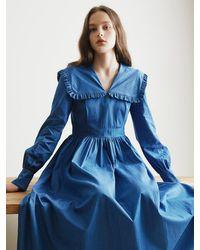among Sailor Denim Dress - Blue
