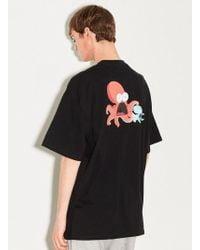 W Concept - [unisex] Octopus Prt Half Tee Black - Lyst
