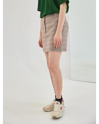 COLLABOTORY Baama7007m Plaid Mini Skirt - Multicolor