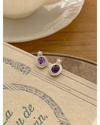 FLOWOOM My Purple Dream Earring - White