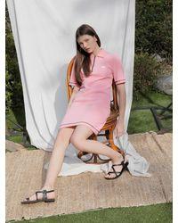 Noir Jewelry Pique Dress - Pink