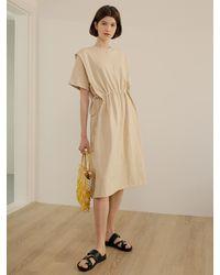among Pintuck String Dress - Natural