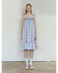 NEUL 2-way Strap Summer Dress - Blue