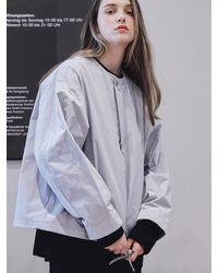 URBANDTYPE Ol183 Collarless Jacket Light Grey
