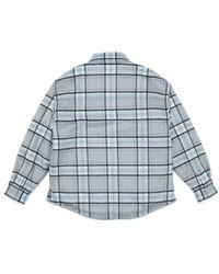 Plac Padded Check Shirts Gray