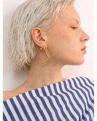 VIOLLINA - Hanguel Alphabet Single Earring-1 Gold - Lyst
