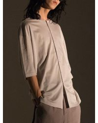 W Concept - Overfit Jersey Shirts Sand White - Lyst