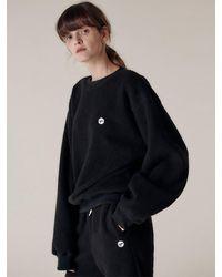 HIDDEN FOREST MARKET Notte Fleece Sweatshirt - Black