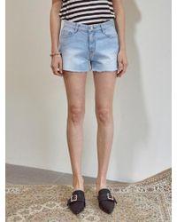YAN13 - Freely Cutting Denim Shorts Denim - Lyst