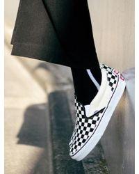 W Concept - [unisex] Unisex Side Line Socks Aaa052u Black Whi - Lyst