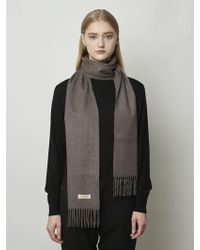 MADGOAT Cashmere Muffler Solid Brown