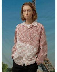 WAIKEI Wave Mixed Paisley Shirt - Pink