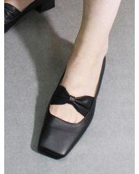 IGINOA Square Ribbon Loafer M-ig-180201 Black