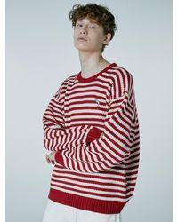 WAIKEI Steady Stripe Knit Jumper Red